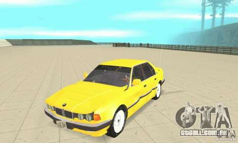 BMW 750I E32 para GTA San Andreas vista interior