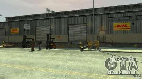 DHL-Port para GTA 4 quinto tela