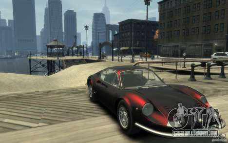 Ferrari Dino 1969 para GTA 4 vista de volta