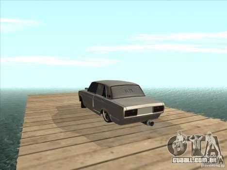 VAZ 2105 luz Tuning para GTA San Andreas vista traseira