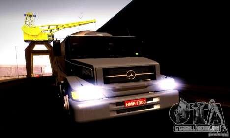 Mercedes-Benz L1620 Tanque para GTA San Andreas traseira esquerda vista