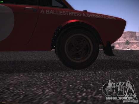 Lancia Fulvia Rally Marlboro para GTA San Andreas vista interior