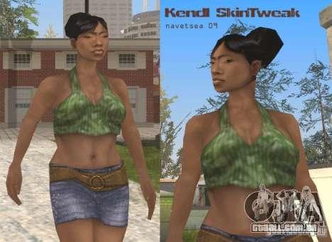 Reteksturizaciâ personagens para GTA San Andreas quinto tela