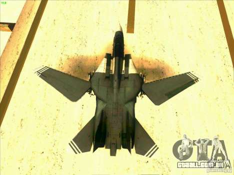 F-14 Tomcat Schnee para GTA San Andreas interior