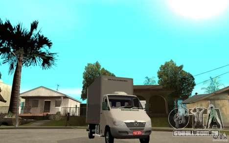 Mercedes-Benz Sprinter Truck para GTA San Andreas vista traseira