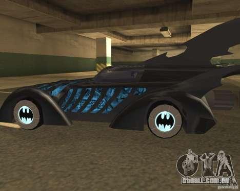 Batmobile 1995 para GTA San Andreas traseira esquerda vista