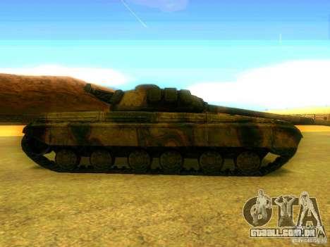 Tanque jogo S. T. A. L. k. e. R para GTA San Andreas esquerda vista