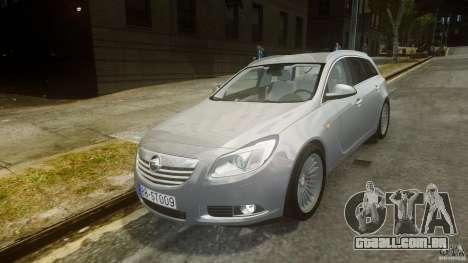 Opel Insignia Sports Tourer 2009 para GTA 4