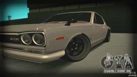 Nissan Skyline 2000GT-R JDM Style para GTA San Andreas esquerda vista