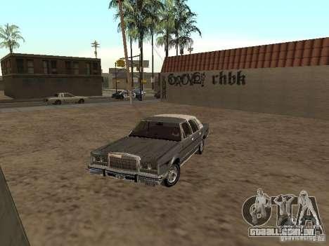 Lincoln Town Car 1986 para GTA San Andreas esquerda vista