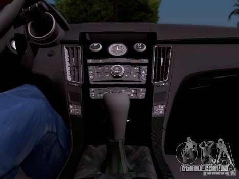 Cadillac CTS-V 2009 para GTA San Andreas vista inferior