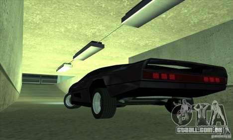 Dodge M4S Turbo Interceptor Wraith 1984 para GTA San Andreas traseira esquerda vista