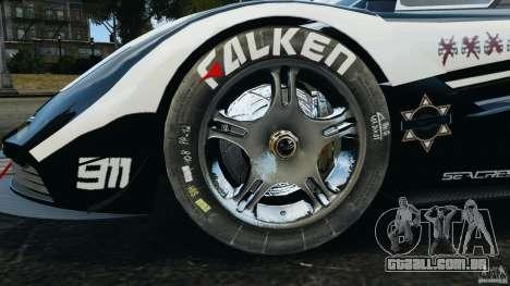 McLaren F1 ELITE Police [ELS] para GTA 4 vista de volta