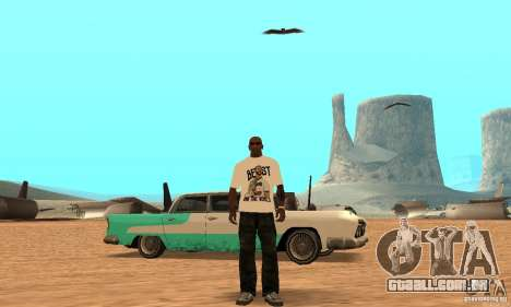 T-shirt do WWE CM Punk para GTA San Andreas terceira tela