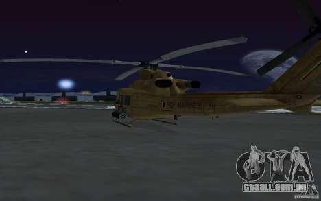 UH-1Y Venom para GTA San Andreas vista interior