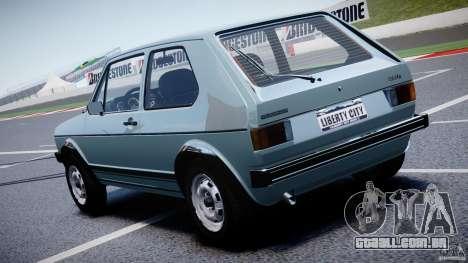 Volkswagen Golf Mk1 para GTA 4 traseira esquerda vista