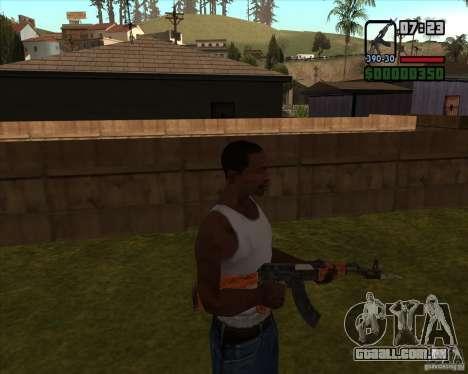 AK-47 com baioneta para GTA San Andreas terceira tela