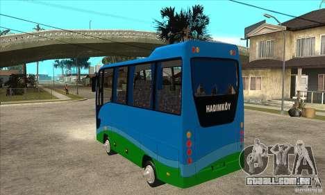 Iveco Eurocity para GTA San Andreas traseira esquerda vista