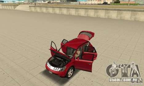 Nissan Murano 2004 para GTA San Andreas vista traseira