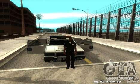 Police Hero v2.1 para GTA San Andreas vista interior