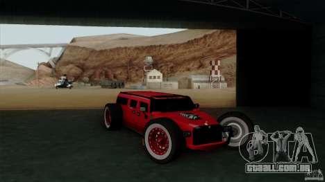 Hummer H2 The HumROD para GTA San Andreas vista direita