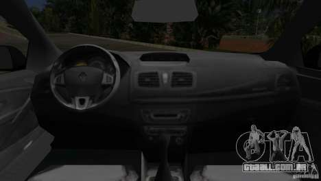 Renault Megane 3 Sport para GTA Vice City vista traseira