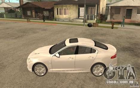 Jaguar XFR para GTA San Andreas esquerda vista