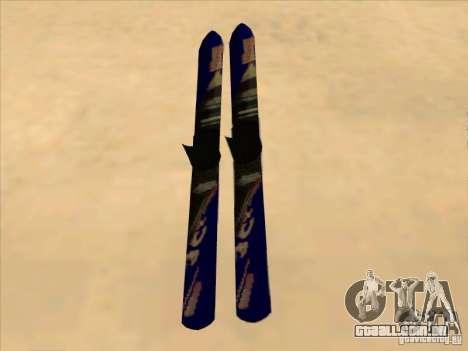 Ski-Ski para GTA San Andreas traseira esquerda vista