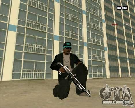 Chrome Weapon Pack para GTA San Andreas terceira tela