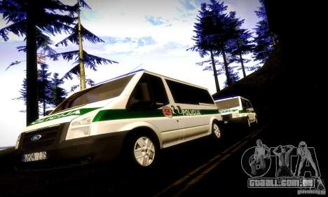 Ford Transit Policija para GTA San Andreas vista traseira