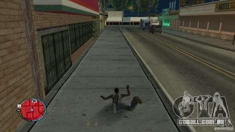 GTA IV HUD para um ecrã largo (16:9) para GTA San Andreas segunda tela