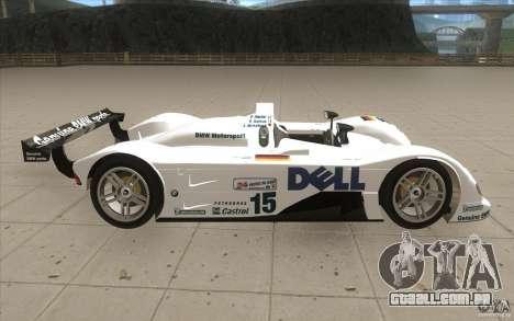 BMW V12 LeMans - Stock para GTA San Andreas vista interior