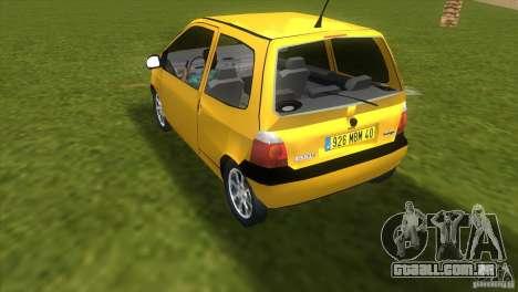 Renault Twingo para GTA Vice City deixou vista