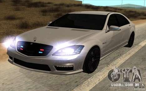 Mercedes-Benz S65 AMG com luzes piscando para GTA San Andreas