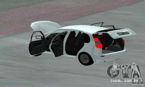 Lada Kalina Hatchback Stock para vista lateral GTA San Andreas