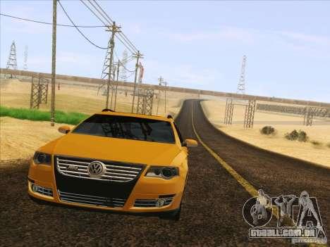 Volkswagen Passat B6 Variant para GTA San Andreas vista superior