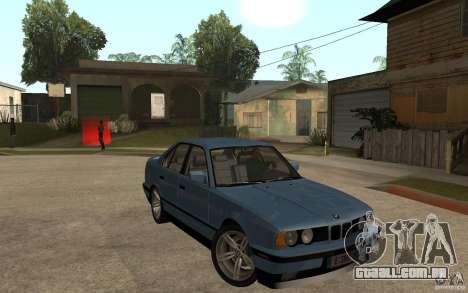 BMW E34 535i 1994 para GTA San Andreas vista traseira