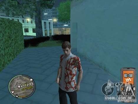 Tony Montana para GTA San Andreas sexta tela
