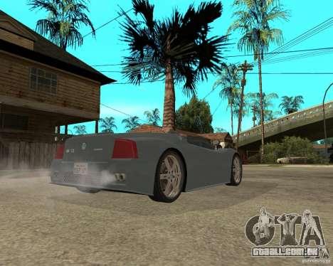 Volkswagen W12 para GTA San Andreas traseira esquerda vista