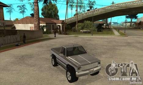 Ford Ranger para GTA San Andreas vista interior