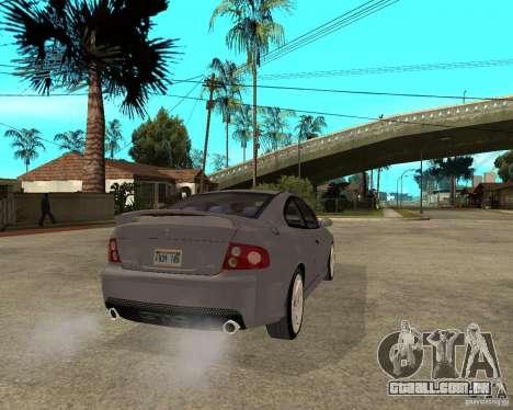 2005 Pontiac GTO para GTA San Andreas traseira esquerda vista