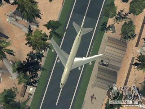Boeing 747-100 Pan American Airways para vista lateral GTA San Andreas