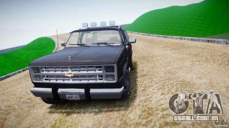 Chevrolet Blazer K5 Stock para GTA 4 vista lateral