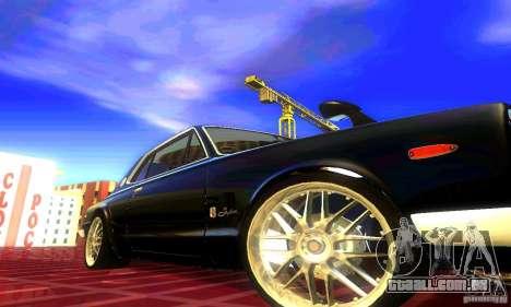 Nissan Skyline 2000-GTR para GTA San Andreas traseira esquerda vista