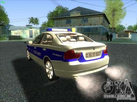 BMW 330i YPX para GTA San Andreas traseira esquerda vista