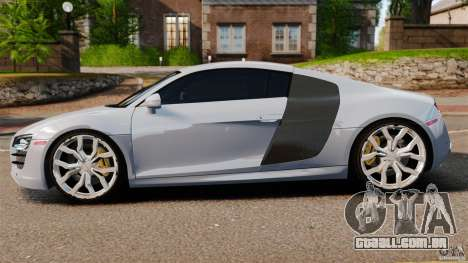 Audi R8 5.2 Stock 2012 Final para GTA 4 esquerda vista