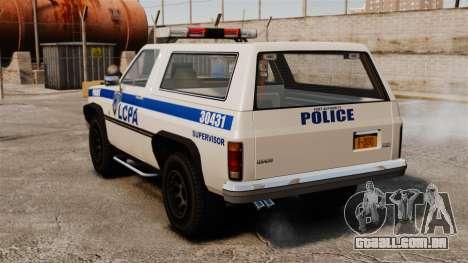 Polícia rancheiro ELS para GTA 4 traseira esquerda vista