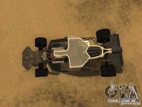 Fast & Furious 6 Flipper Car para GTA San Andreas vista traseira
