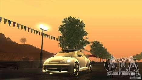 Volkswagen Beetle Tuning para GTA San Andreas vista traseira