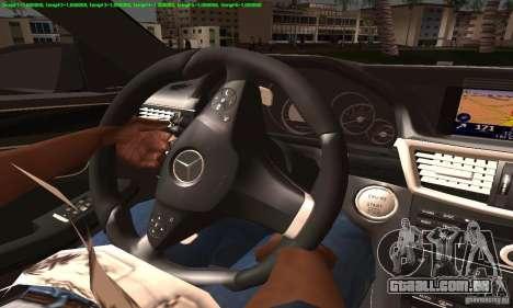 Mercedes-Benz E63 AMG 2010 para GTA San Andreas vista interior